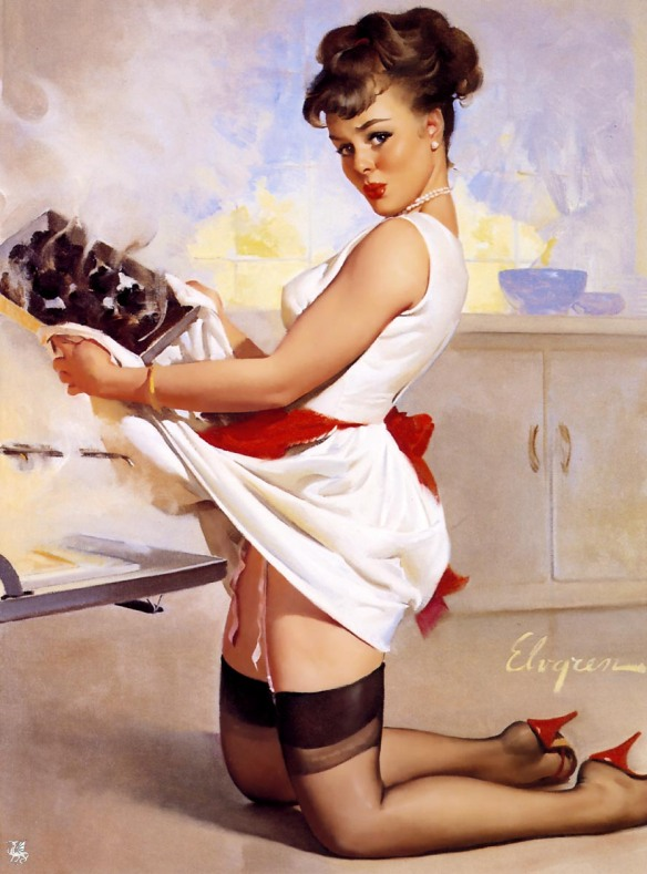 Let's Eat Out (1967) by Gil Elvgren